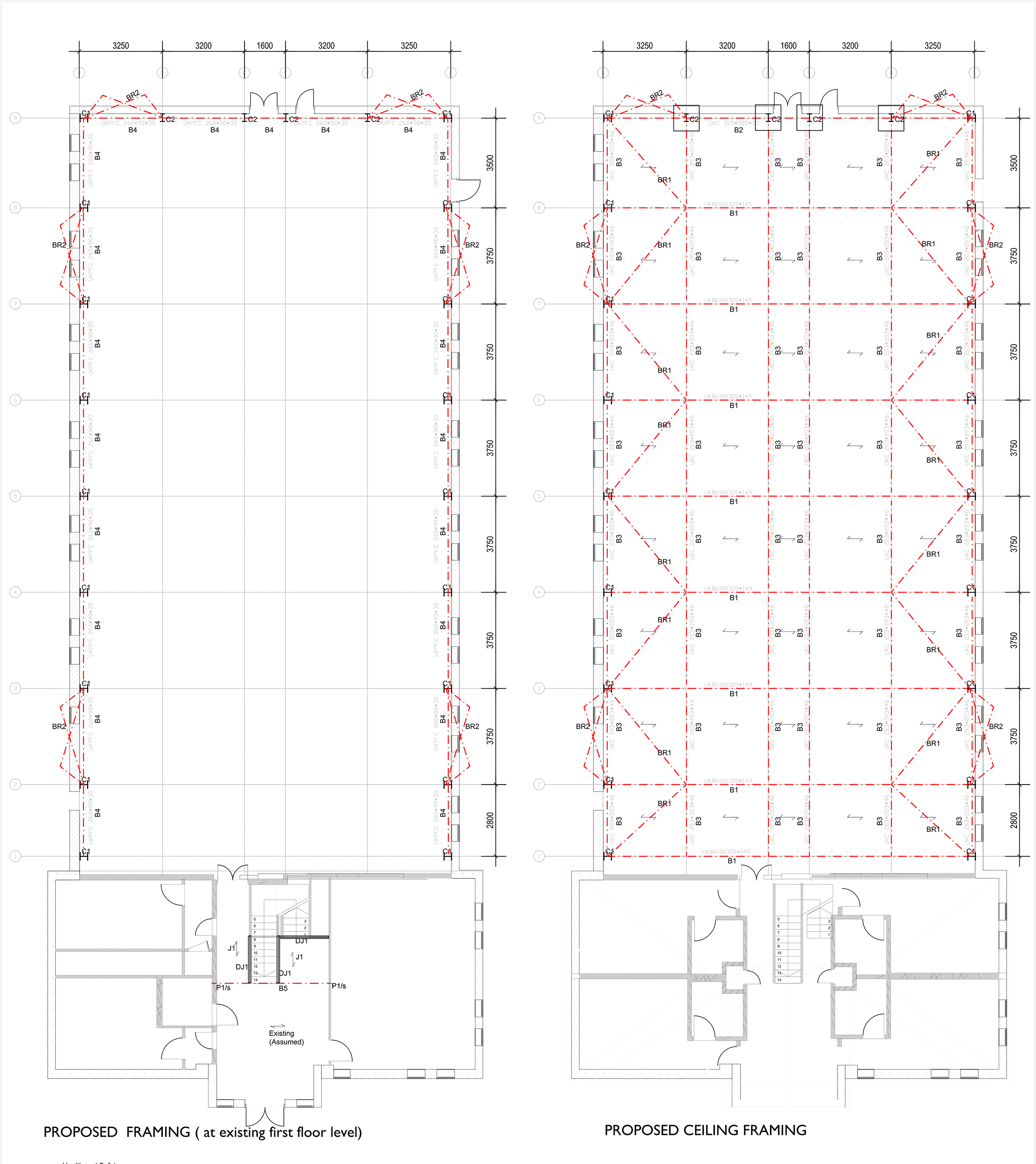 The two storey hotel to a full height single storey event hall