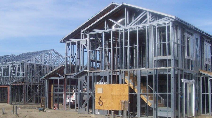 cold framed steel structure