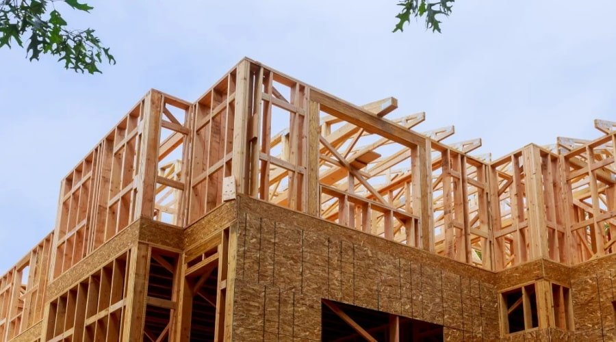 Why is wood the preferred construction material in California?