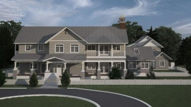 Two-story home design in Florida