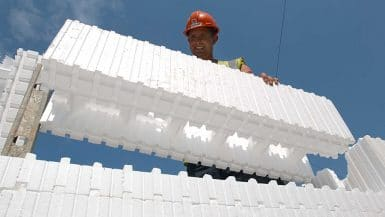 ICF or Insulated concrete forms